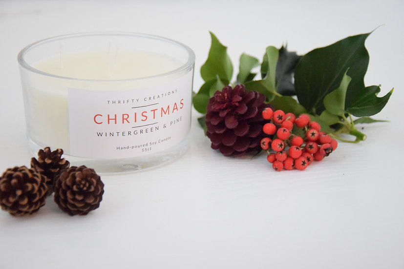Christmas Winter Pine Soy Candle