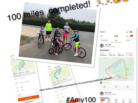 Amy's Lockdown Challenge