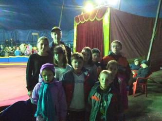 На цирковом представлении!