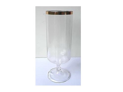 Taça Long 300 ml c/ borda dourada