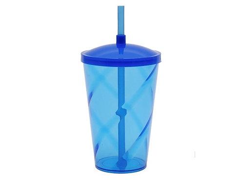 Copo Twister com tampa e canudo 700 ml