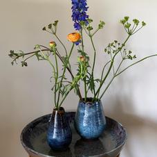 Steengoed vazen en schaal