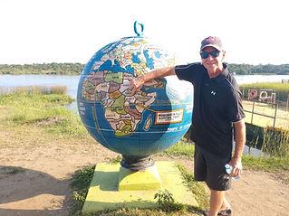 Uganda on the world globe