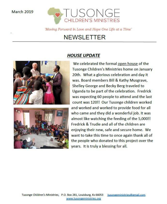 March 2019 newsletter page 1