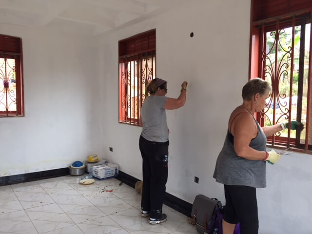 Sanding and painting