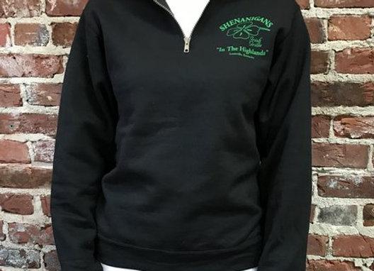 1/4 Zip Black Sweatshirt