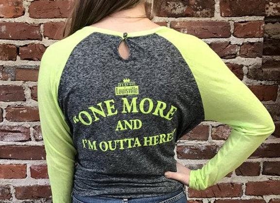 Women's Long Sleeve Tee (Light Green and Gray)