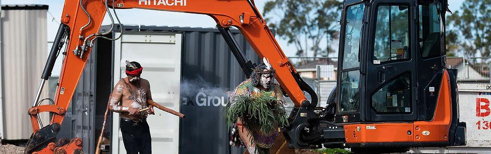Aboriginal - burning sage construction s