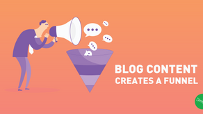 Blog content creates a funnel