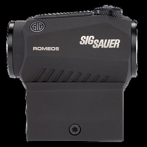 Sig Sauer Electro-Optics Romeo5 1x 20mm Obj 2 MOA Red Dot Black CR2032