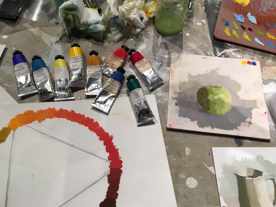 Colour mixing workshop