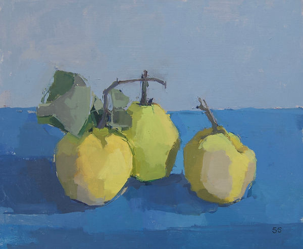 Spackman Take Three Quinces o:b 25x30cm.
