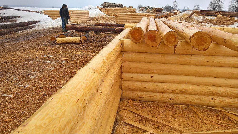 Срубы из зимнего леса в Казани купить