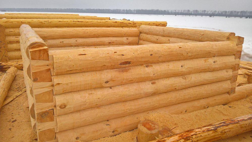 Идеальный сруб из экологически чистого леса Марий Эл