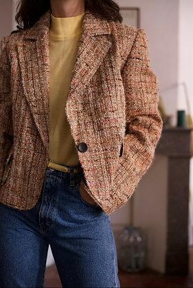 Veste tweed couleurs automne