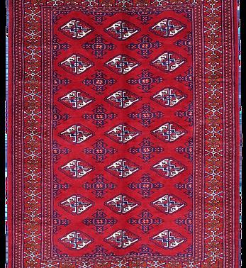 33197/トルクメン幾何連続文絨毯