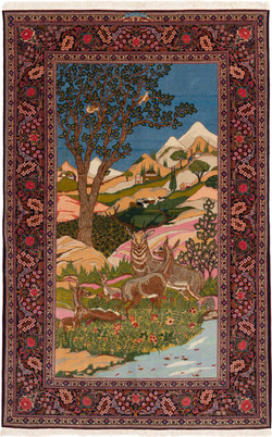 風景図絨毯