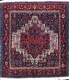 9003|サナンダージュ(センネ)・幾何メダリオン文様絨毯