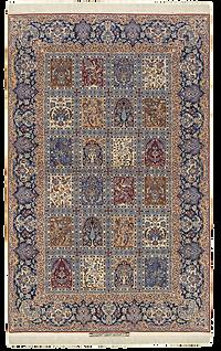 庭園文様絨毯.パネル文様絨毯、png