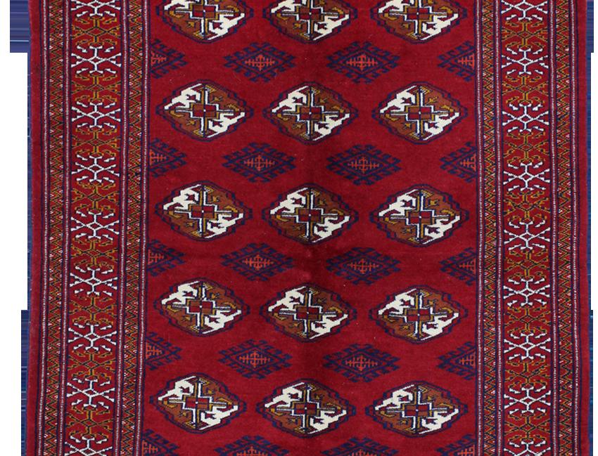 33195/トルクメン幾何反復文様絨毯