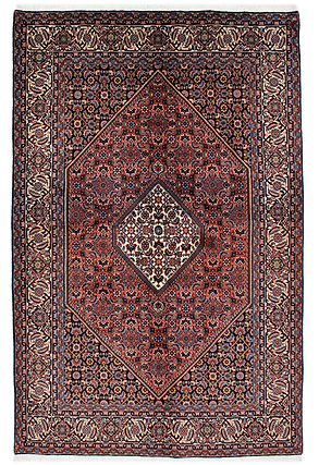9075 ビージャール(ビジャー)メダリオン文様絨毯 約212x140㎝