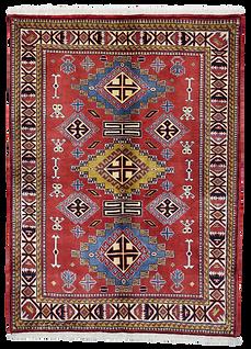 9066A|/ケルマーンシャー・幾何学文様絨毯