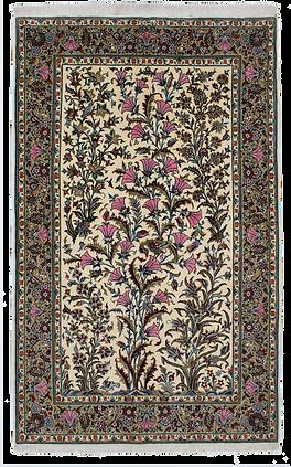 9072|カーシャーン(カシャーン) 樹木文様絨毯