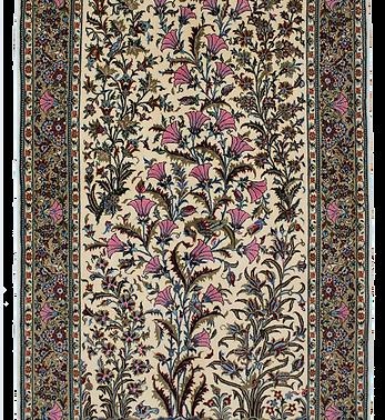 数寄の絨毯33248/カーシャーン(カシャーン)・樹木花鳥文様絨毯