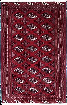 9015|トルクメン幾何連続文絨毯