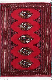 9008|トルクメン・幾何連続文絨毯
