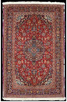 9060|カーシャーン(カシャーン) メダリオン・コーナー文様絨毯