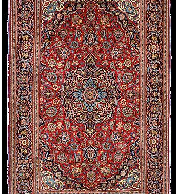 数寄の絨毯33239/カーシャーン(カシャーン) メダリオン・コーナー文様絨毯