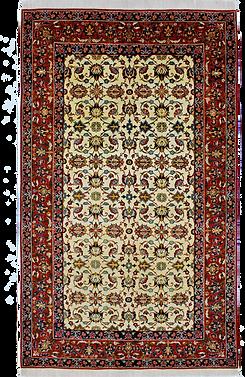 ナジャファーバード絨毯9085/連花葉文様絨毯/220x136