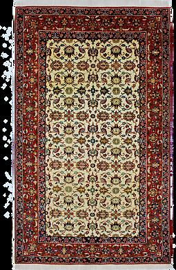9085|ナジャファーバード・連花葉文様絨毯