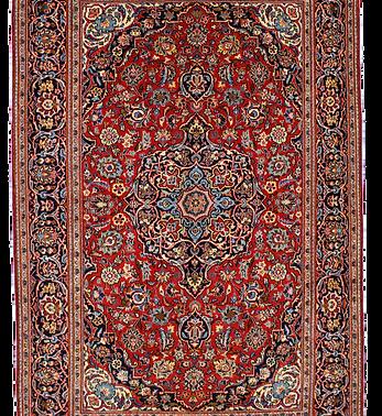 数寄の絨毯33245/カーシャーン(カシャーン) メダリオン・コーナー文様様絨毯