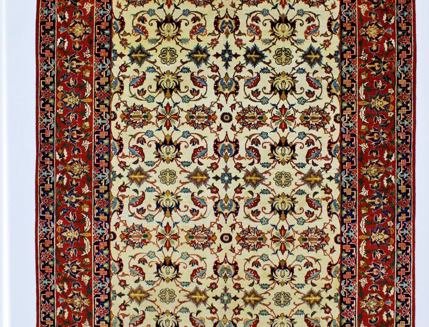 数寄の絨毯33265/ナジャファーバード・連花葉文様絨毯