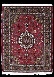 9076|タブリーズ・メダリオン・コーナー文様様絨毯