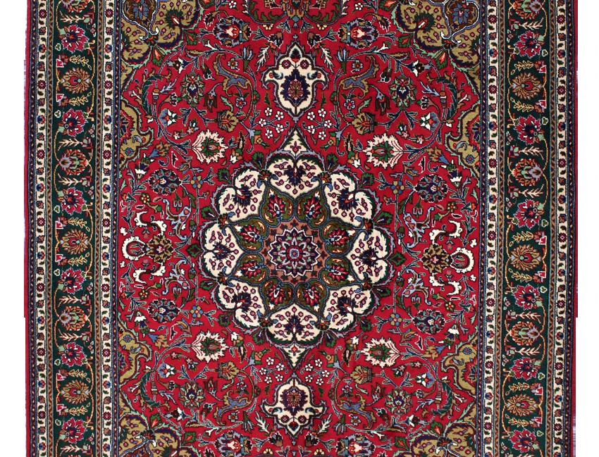 数寄の絨毯33272/タブリーズ メダリオン・コーナー文様絨毯