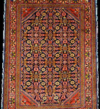 33254リーリヤーン(リリアン)連花葉文様絨毯