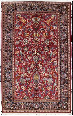 9059|カーシャーン(カシャーン) 連花葉楽園文様絨毯
