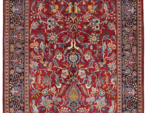 数寄の絨毯33247/カーシャーン(カシャーン)・連花葉楽園文様絨毯