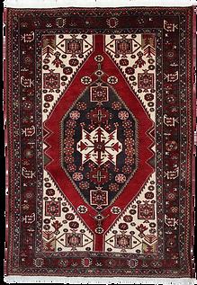 2090|ハマダーン(ハマダン)幾何メダリオン文様絨毯
