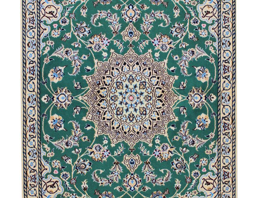 数寄の絨毯33274/ナーイーン(ナイン)メダリオン文様絨毯