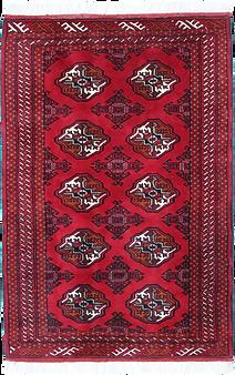 9019|トルクメン・幾何連続文様絨毯