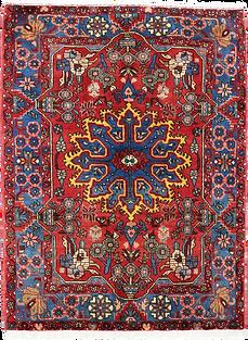 9002|ハマダーン(ハマダン)幾何メダリオン文様絨毯