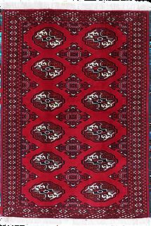 9018|トルクメン・幾何連続文様絨毯