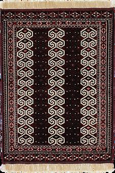 9022|トルクメン幾何連続文絨毯