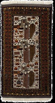 2332|バルーチ・四賢者絵画文様絨毯