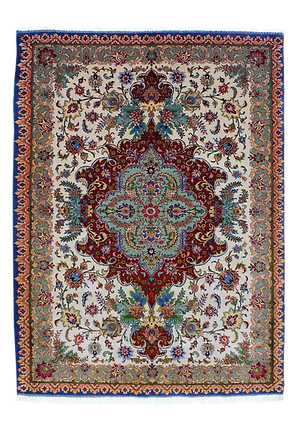 9095|タブリーズ・メダリオン文様絨毯| 約190x139㎝