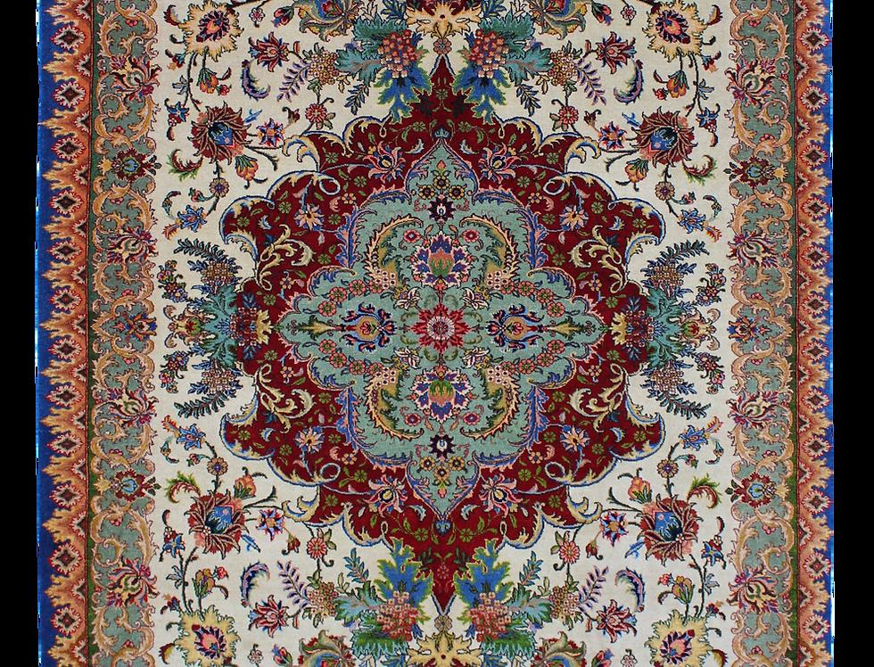 数寄の絨毯33269/タブリーズ メダリオン文様絨毯